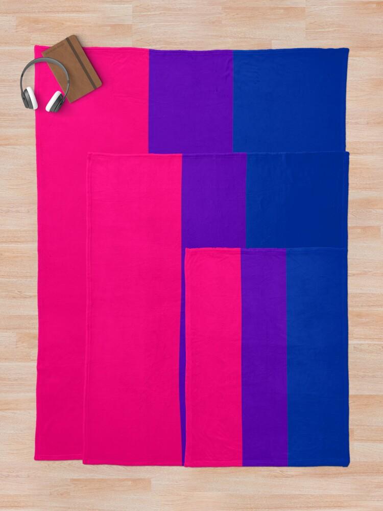 Alternate view of Solid Bisexual Pride Flag Throw Blanket