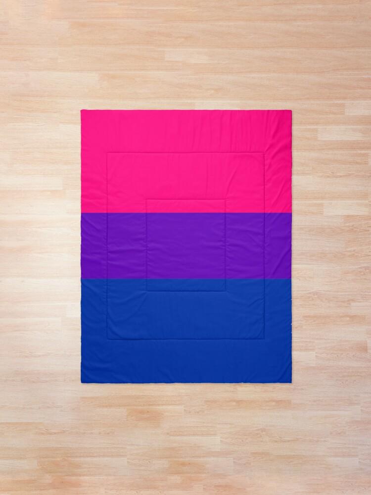 Alternate view of Solid Bisexual Pride Flag Comforter
