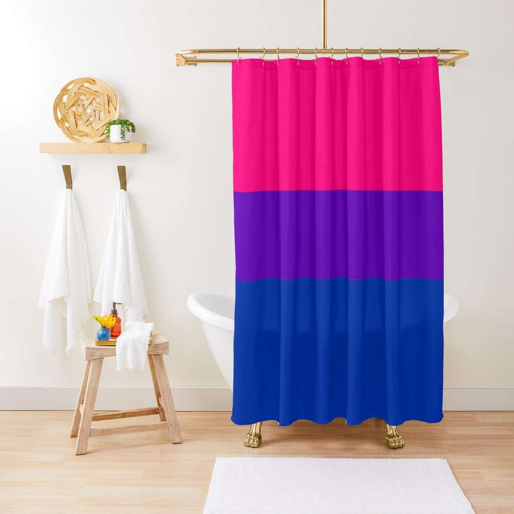 Solid Bisexual Pride Flag Shower Curtain
