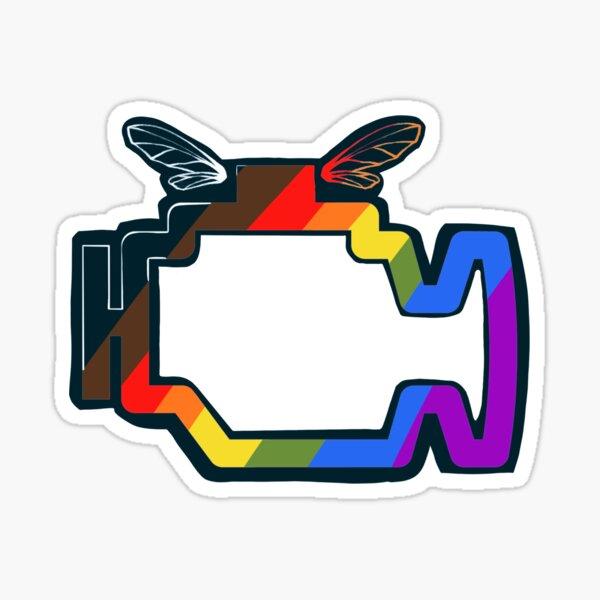 Transmission Folklore Gay Pride Logo Sticker