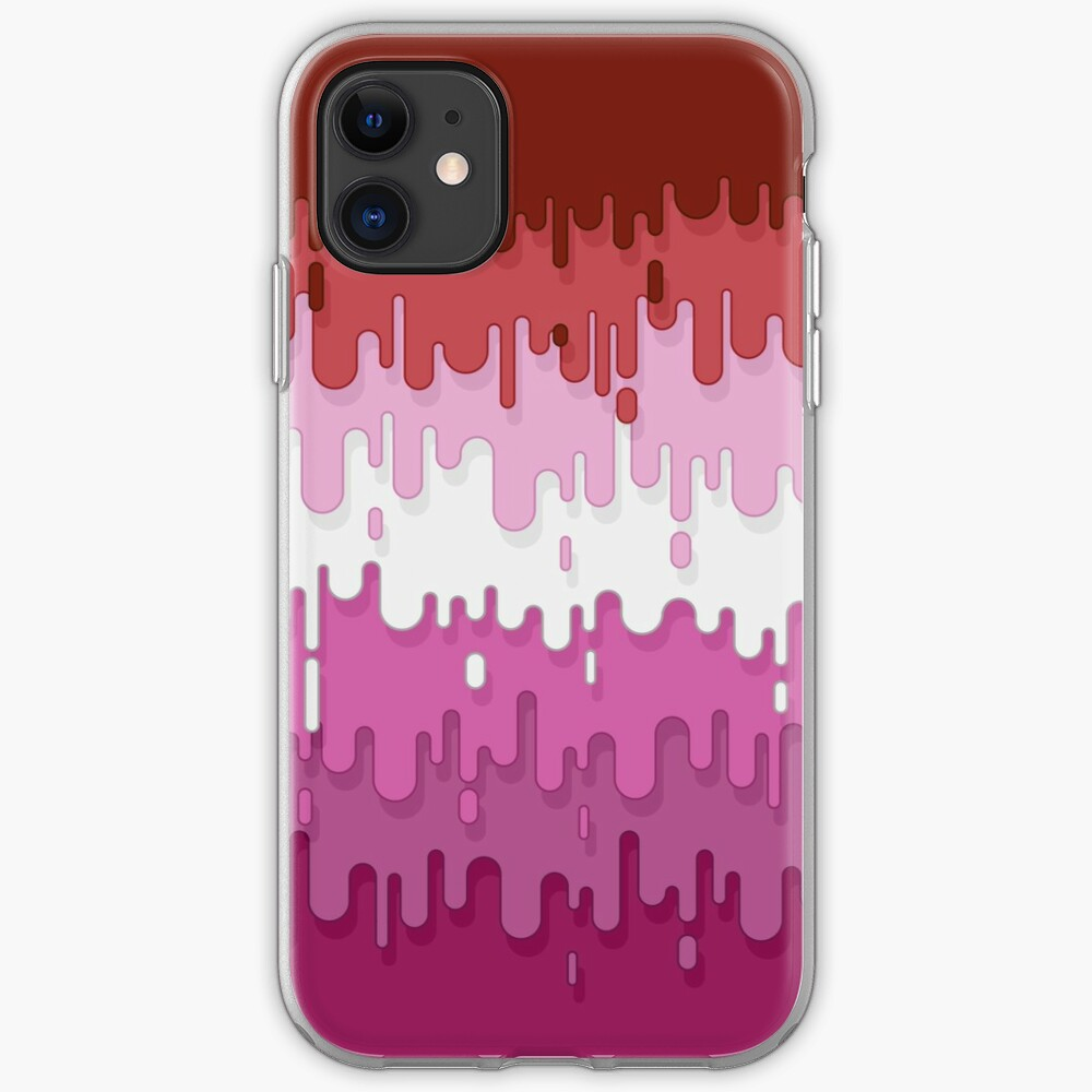 Lipstick Lesbian Abstract Drips Flag iPhone Case & Cover