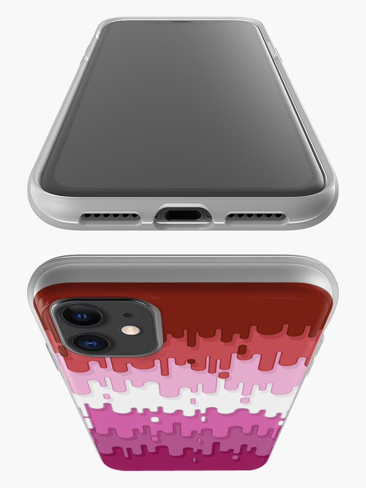 Alternate view of Lipstick Lesbian Abstract Drips Flag iPhone Case & Cover