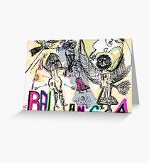 "SILVIO BERLUSCONI bunga bunga a Roma . by Andrzej Goszcz , nickname "" Brown Sugar  """""" Greeting Card"