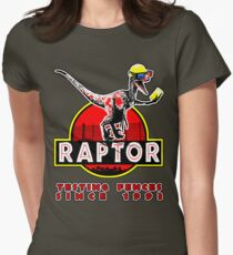 Raptor 3D. Testing the fences since 1993. Women's Fitted T-Shirt