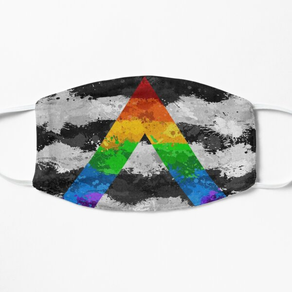 LGBT Ally Paint Splatter Flag Flat Mask