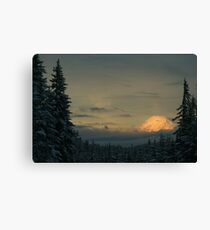 Mt. Adams in the Winter Canvas Print