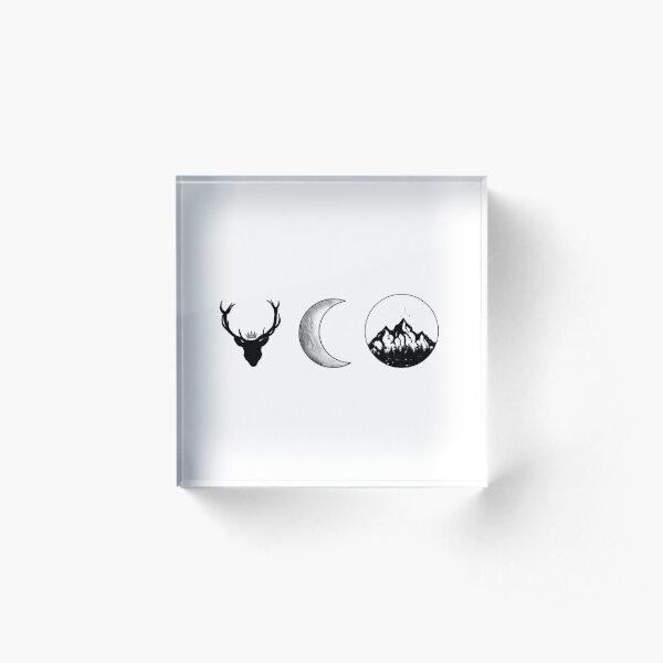 SJM Series   Black and White Acrylic Block