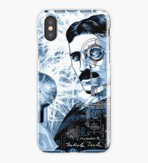 Inventor Nikola Tesla. Thomas Edison. Electricity iPhone Case