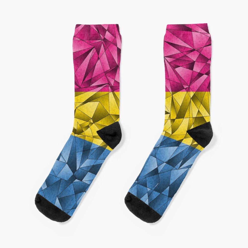 Abstract Pansexual Flag Socks