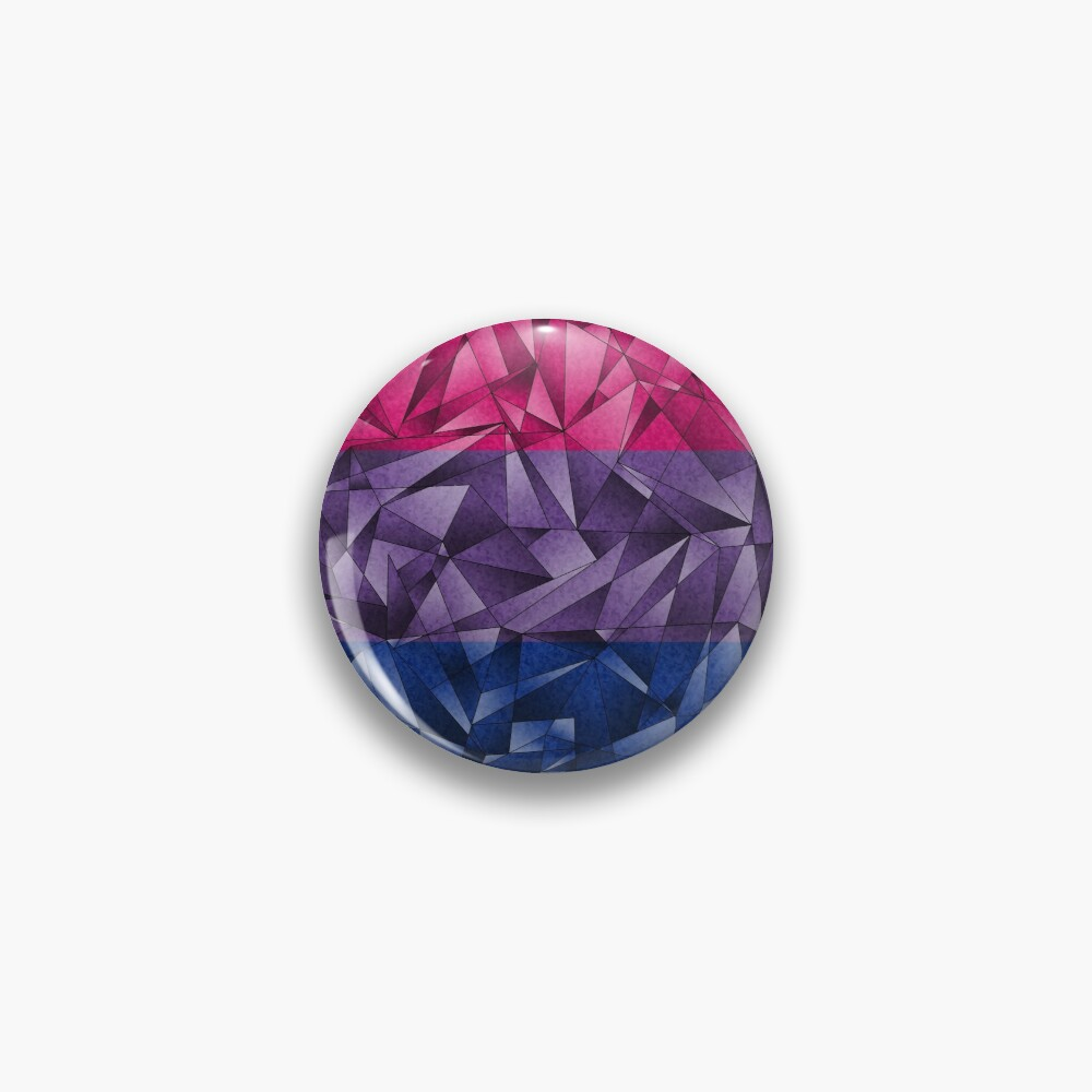 Abstract Bisexual Flag Pin