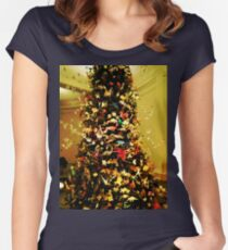 Origami Tree-Museum of Natural History Women's Fitted Scoop T-Shirt