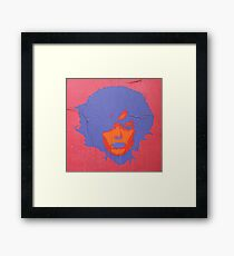 "Warhol Stencil Graffiti ""Kate"" Framed Print"