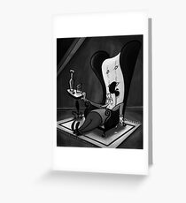 Artist In Chair Greeting Card
