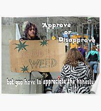"""Appreciate the Honesty"" by Carter L. Shepard Poster"