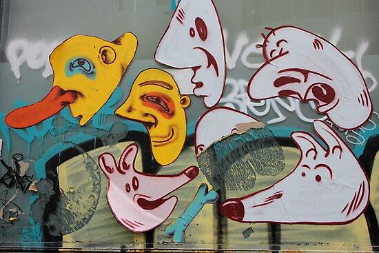 Street Art Graffiti Poster and Tee by Punk60