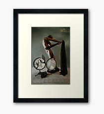 Black Ribbon Framed Print