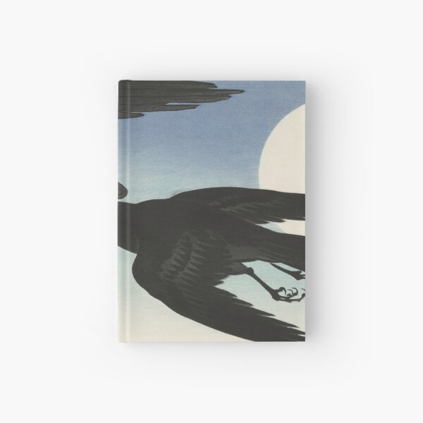 Traditional Japanese Painting of Black Crows Hardcover Journal