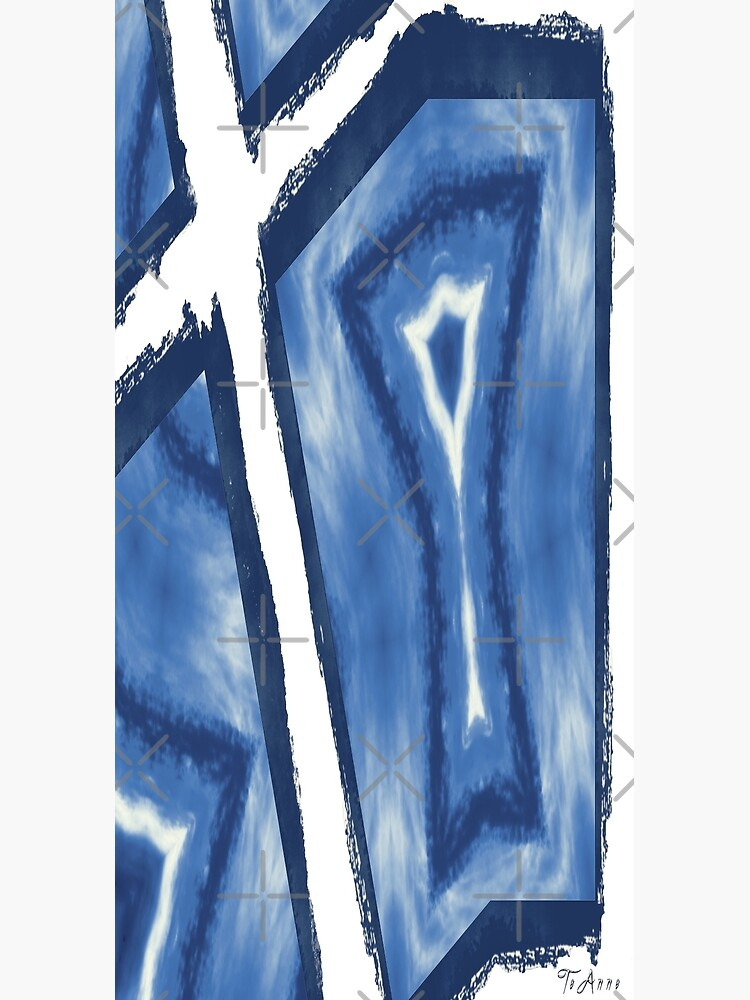 Blue and white abstract art by TeAnne