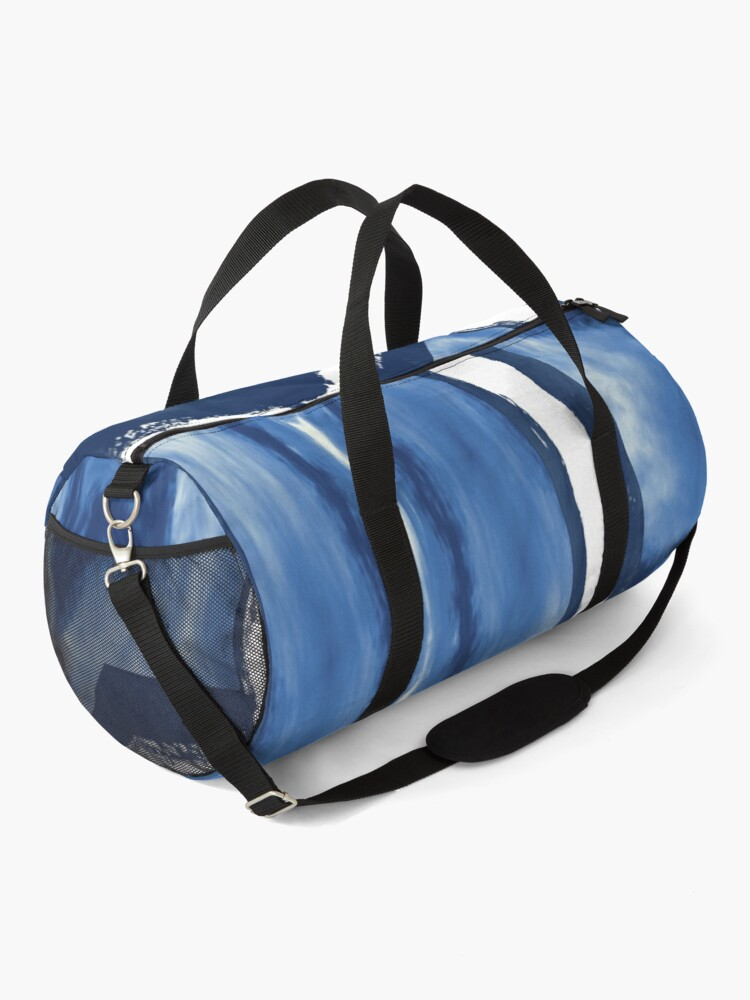 Alternate view of Blue and white abstract art Duffle Bag