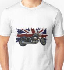 Patriotic Union Jack, UK Union Flag, Motorcycle Unisex T-Shirt