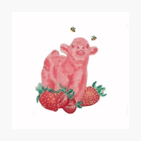 Strawberry Cow Prints Photographic Print