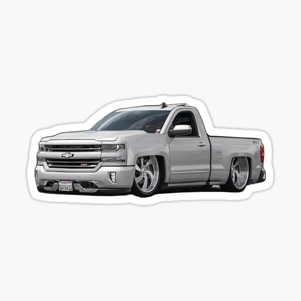 Chevrolet Silverado - Ruedas Billet Pegatina