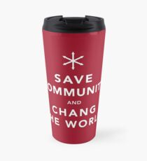 Save Community & Chang the World Travel Mug