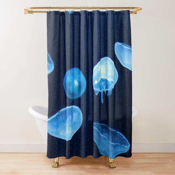 Swimming Jellyfish  Shower Curtain