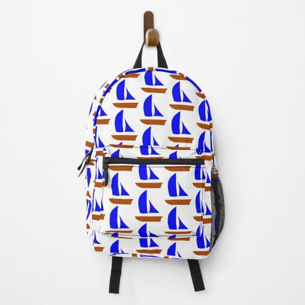 sailboat, cabin boat, sailboats, cabin boats, sailing ship, sailing ships, sailing yachts, sailing yachts, sailing yachts, sailboats, blue, Backpack