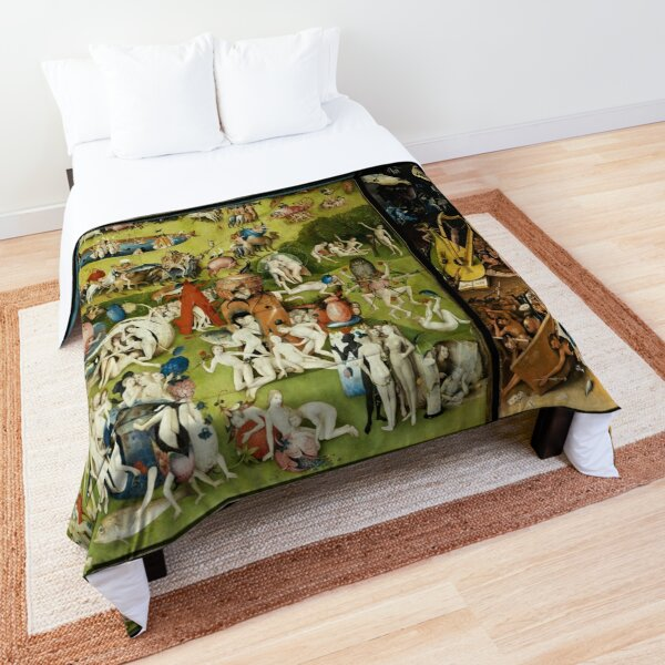Garden of Earthly Delights , Paradise and Hell by Hieronymus Bosch Comforter