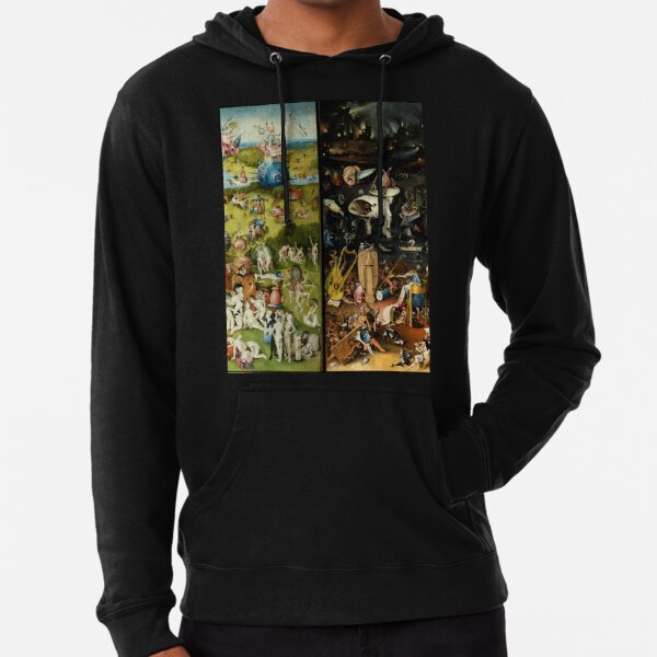 Garden of Earthly Delights , Paradise and Hell by Hieronymus Bosch Lightweight Hoodie