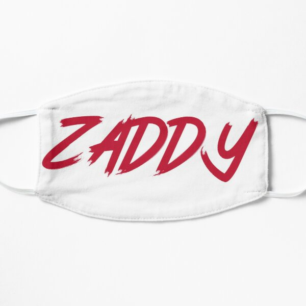 The ZADDY Print | Red Graphic, White Background Flat Mask