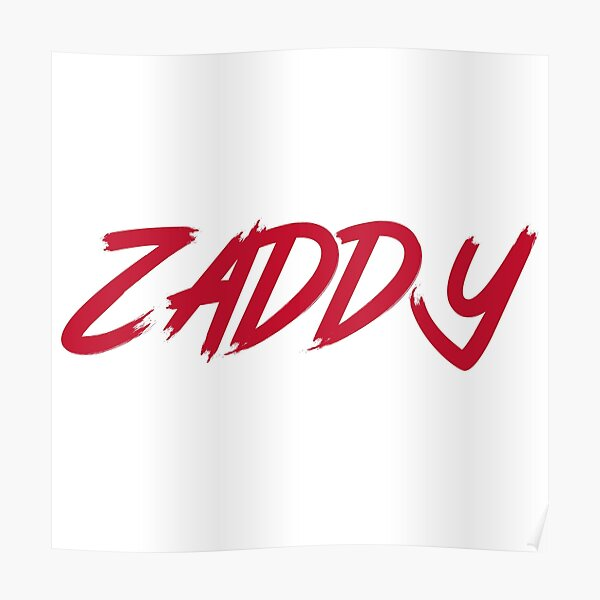 The ZADDY Print   Red Graphic, White Background Poster