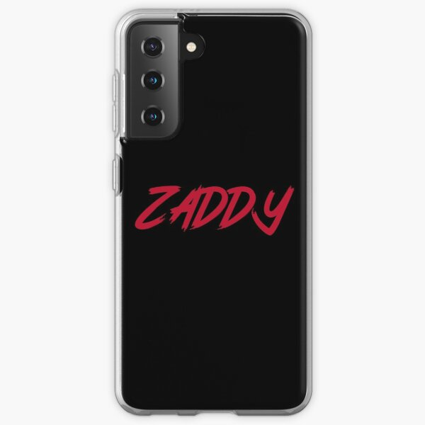 The ZADDY Print   Red Graphic, Black Background Samsung Galaxy Soft Case