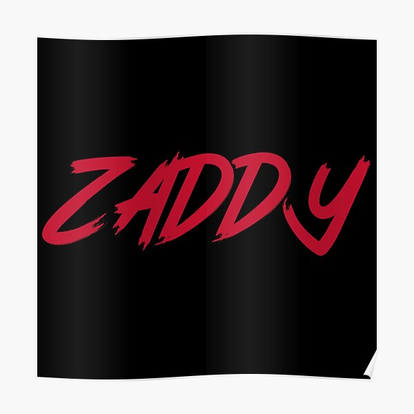 The ZADDY Print   Red Graphic, Black Background Poster