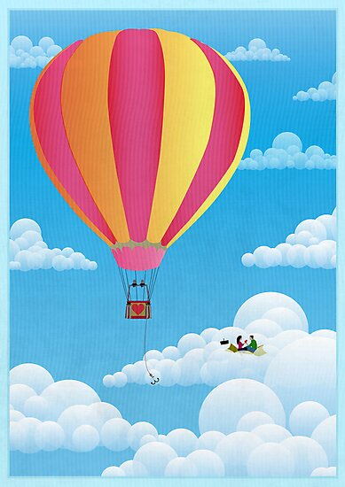 Picnic in a Balloon on a Cloud by Wyattdesign