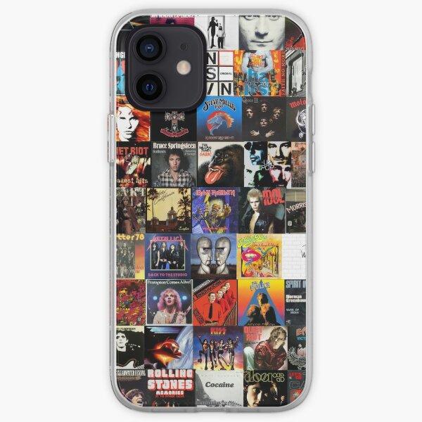 Rock Vinyl Collage  iPhone Soft Case