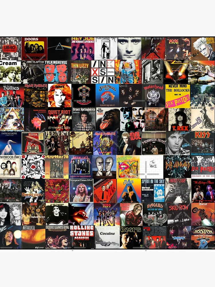 Rock Vinyl Collage  by Hunter54nz