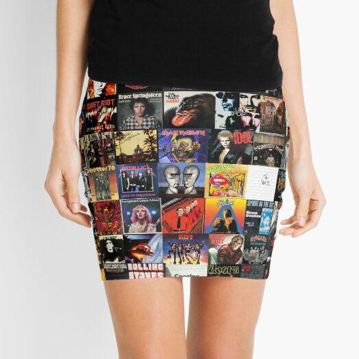 Rock Vinyl Collage  Mini Skirt