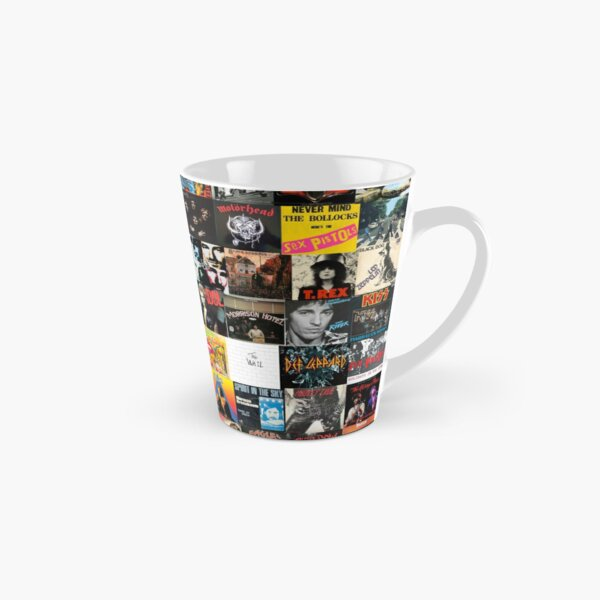 Rock Vinyl Collage  Tall Mug