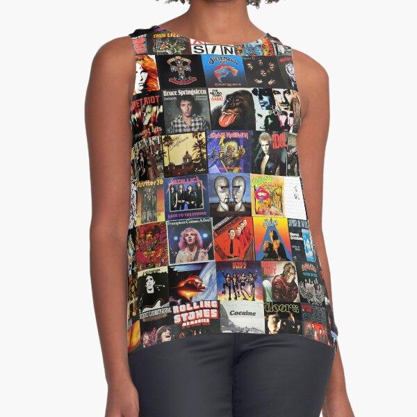 Rock Vinyl Collage  Sleeveless Top