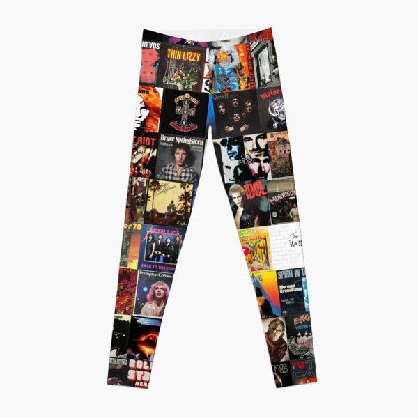 Rock Vinyl Collage  Leggings