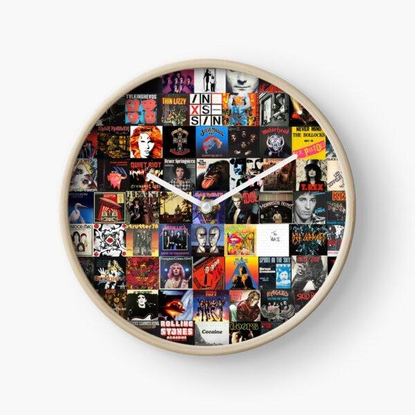 Rock Vinyl Collage  Clock