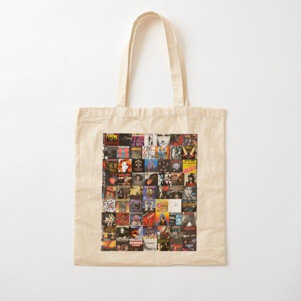 Rock Vinyl Collage  Cotton Tote Bag