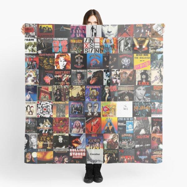 Rock Vinyl Collage  Scarf