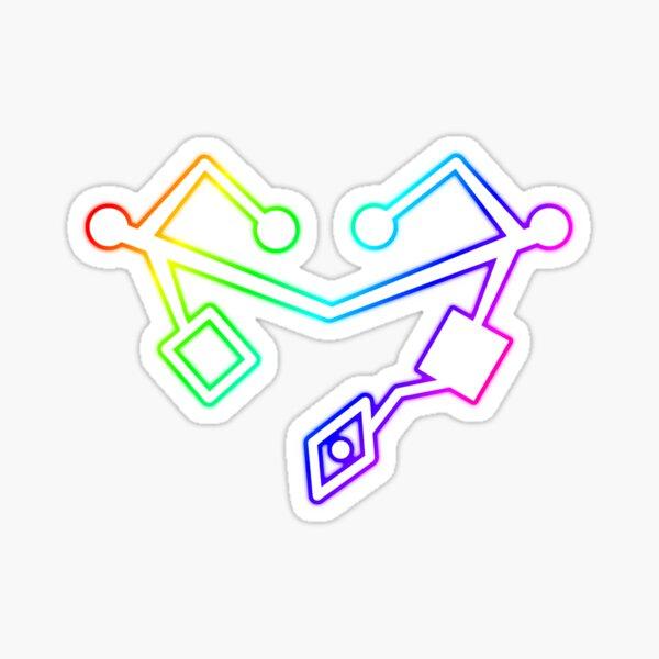 Rainbow Heart of Etheria Failsafe  Sticker