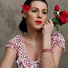 Retro Lady in Red by Trudy Wilkerson