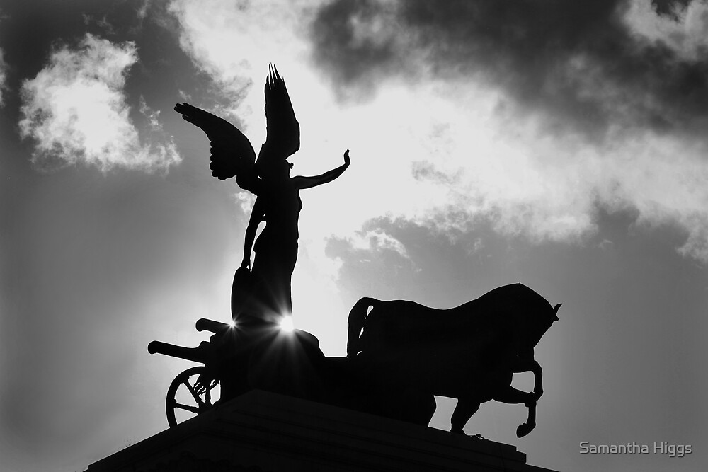 Angel and Chariot Statue - Rome by Samantha Higgs