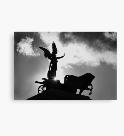 Angel and Chariot Statue - Rome Canvas Print
