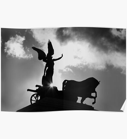 Angel and Chariot Statue - Rome Poster